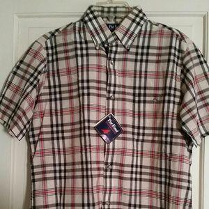 Part Four Men's Plaid Short Sleeve Shirt Sz M